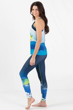 Mahi Mahi  Active Racer Back Tank - Wavelife