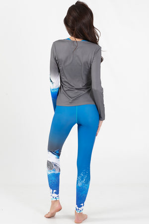 Blue Marlin Active Long Sleeve V-Neck - Wavelife