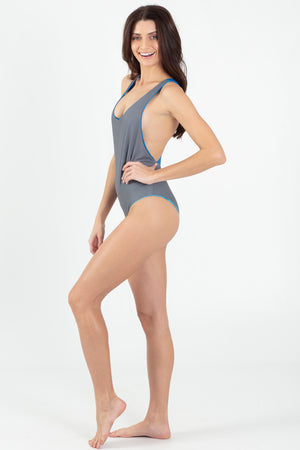 Blue Marlin Reversible V-Neck One Piece