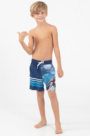 Word Rider Boys Elastic waist Volley Short - Wavelife