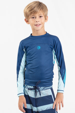 Boys Long Sleeve Performance Rashguard - Wavelife
