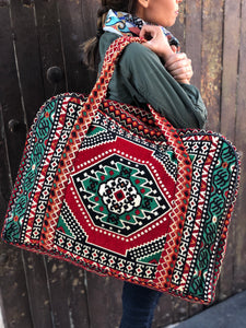 Large Handmade Woven Luggage Bag