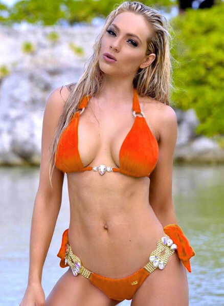 Amber Luxury Top & Tie Side Bottom - Orange - reginasdesire