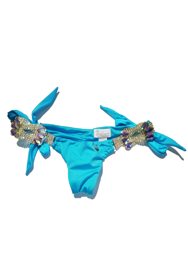 Amber Tie Side Bottom - Turquoise - reginasdesire