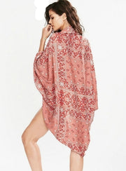 Floral Wrap Shawl Badpak Cover Up - reginasdesire