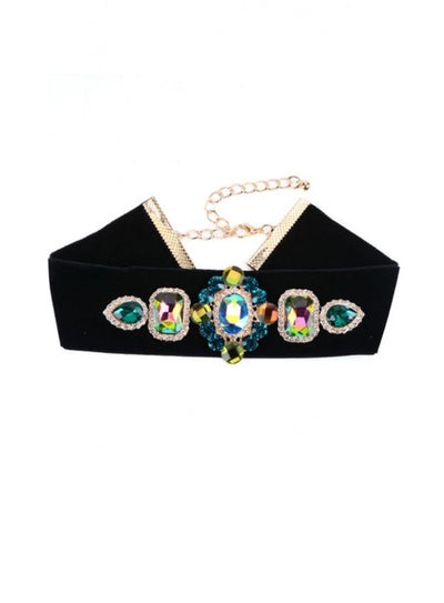 Luxury Vintage Colorful Pedant Choker - reginasdesire