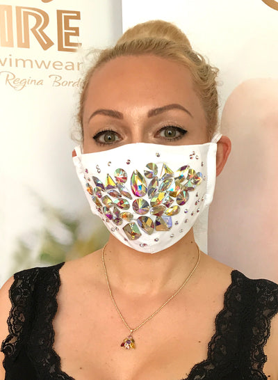 Shine Crystal Mask - Beyaz
