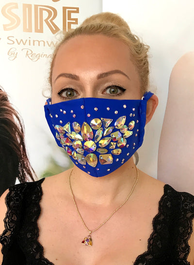 Shine Crystal Mask - Blue