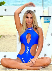 Malibu Rhinestone One Piece - Blue - reginasdesire