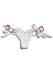 Tessa Tie Side Bottom - White - reginasdesire