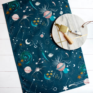 Cosmic Print Tea Towel