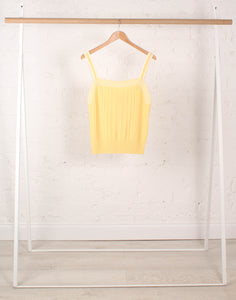 Citron Knitted Ribbed Vest