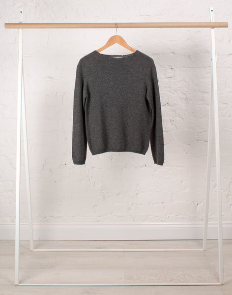 Cashmere Boat Neck Essential in Grey
