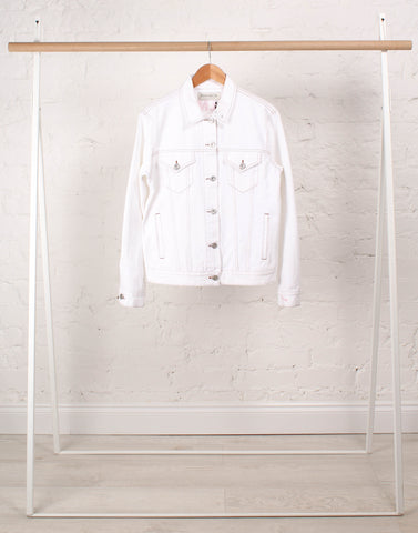 Palm Reader White Denim Jacket