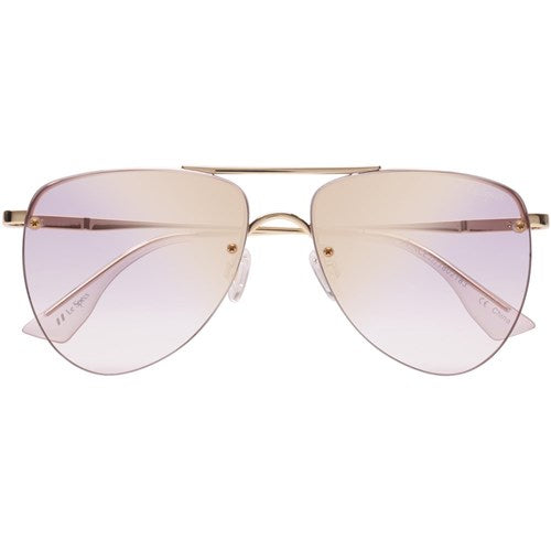 The Prince Aviator Gold Lilac Glasses