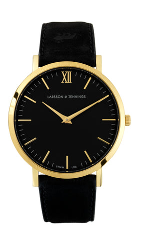 Gold & Black Lugano 40mm