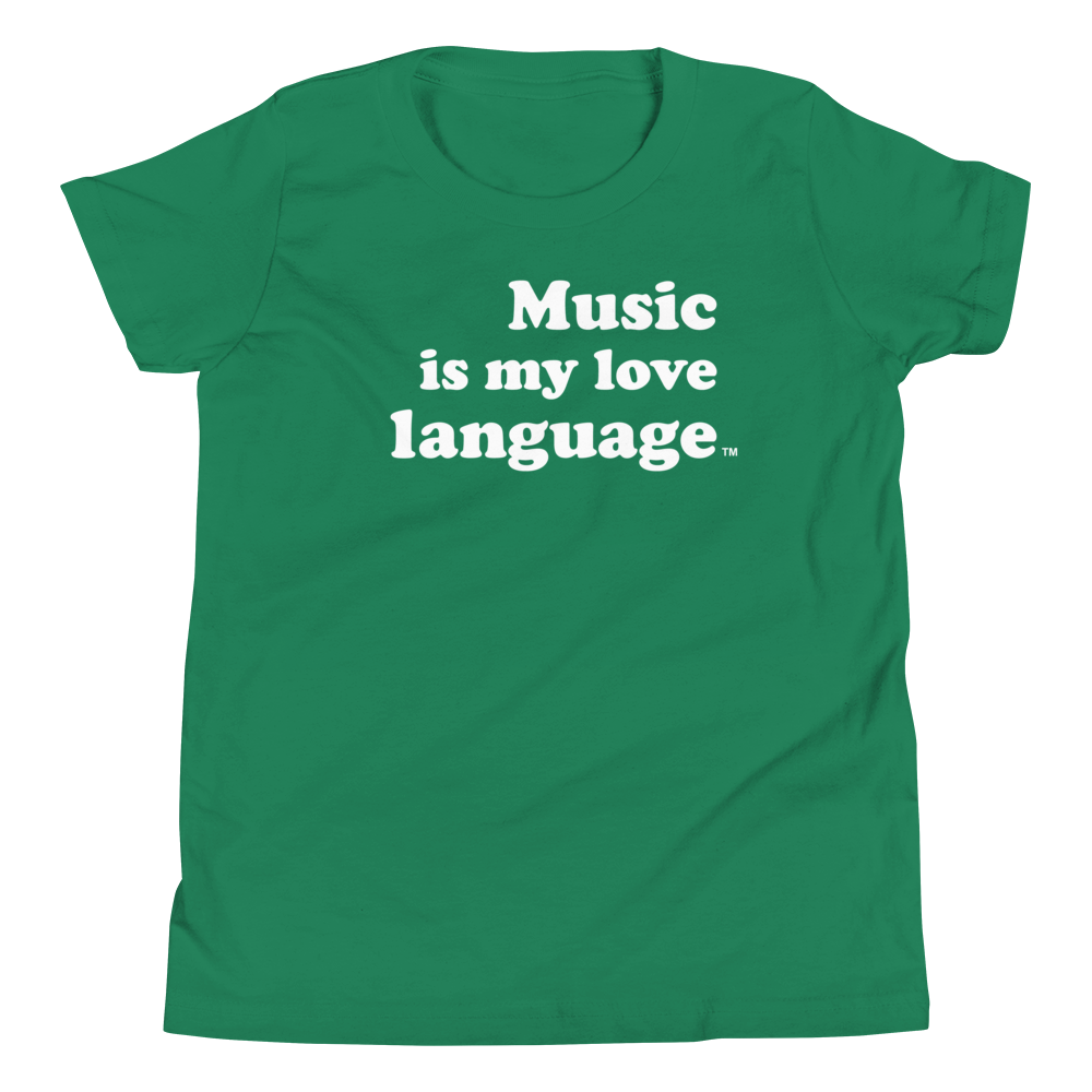 Music is my love language Children's Shirts