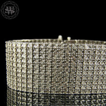 World Shine Bracelet 10 Row Premium 925 Sterling Silver 14k White Gold Finish 2/3/4/5/6/7/8/10 Row Real Diamond Bracelet 0.5>6Ct