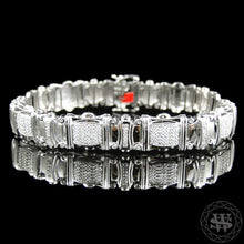 "World Shine Bracelet 12.5 mm / 8"" / 20.32 cm Premium 925 Sterling Silver With Real Diamond 14k White Gold Finish Diamond Bracelet 1.2Ct 12.5mm"