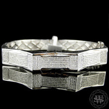 "World Shine Bracelet 12 mm / 8.5"" / 21.59 cm Premium 925 Sterling Silver With Real Diamond 14k White Gold Finish Diamond Bracelet 2.5Ct 12mm"