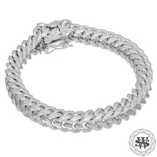"World Shine Bracelet 18K White Gold / 7.5 mm / 7"" / 17.78 cm Premium 925 S.S 18k Yellow or White Gold Plated Solid Miami Cuban Bracelet 7.5/9/10.5/12/14/16/17.5mm 7"" to 9"""