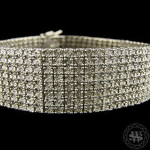 World Shine Bracelet 8 Row Premium 925 Sterling Silver 14k White Gold Finish 2/3/4/5/6/7/8/10 Row Real Diamond Bracelet 0.5>6Ct