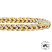 World Shine Bracelet Classic High Quality Brass Franco Iced Out Bracelet Yellow Gold Finish 8mm