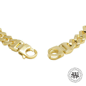 World Shine Bracelet Classic High Quality Brass Yellow Gold Finish Cuban Bracelet