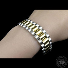 World Shine Bracelet Classic High Quality Two Tone Gold Finish Stainless Steel Presidential Bracelet 15mm