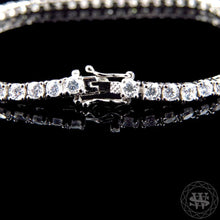 World Shine Bracelet Premium 925 Sterling Silver White Gold Finish Simulated Diamond High Clarity Single Row Bracelet 3.3 mm