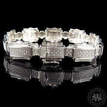 World Shine Bracelet Premium 925 Sterling Silver With Real Diamond 10k White Gold Finish Diamond Bracelet 1.25Ct 14mm