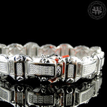 World Shine Bracelet Premium 925 Sterling Silver With Real Diamond 14k White Gold Finish Diamond Bracelet 1.20Ct 14mm
