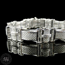 World Shine Bracelet Premium 925 Sterling Silver With Real Diamond 14k White Gold Finish Diamond Bracelet 1.79Ct 14mm