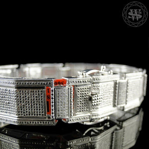 World Shine Bracelet Premium 925 Sterling Silver With Real Diamond 14k White Gold Finish Diamond Bracelet 2.0Ct 16mm
