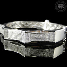 World Shine Bracelet Premium 925 Sterling Silver With Real Diamond 14k White Gold Finish Diamond Bracelet 2.5Ct 12mm