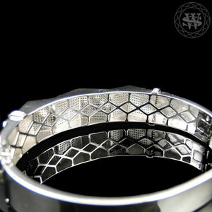 World Shine Bracelet Premium 925 Sterling Silver With Real Diamond 14k White Gold Finish Diamond Bracelet 3.5Ct 18mm
