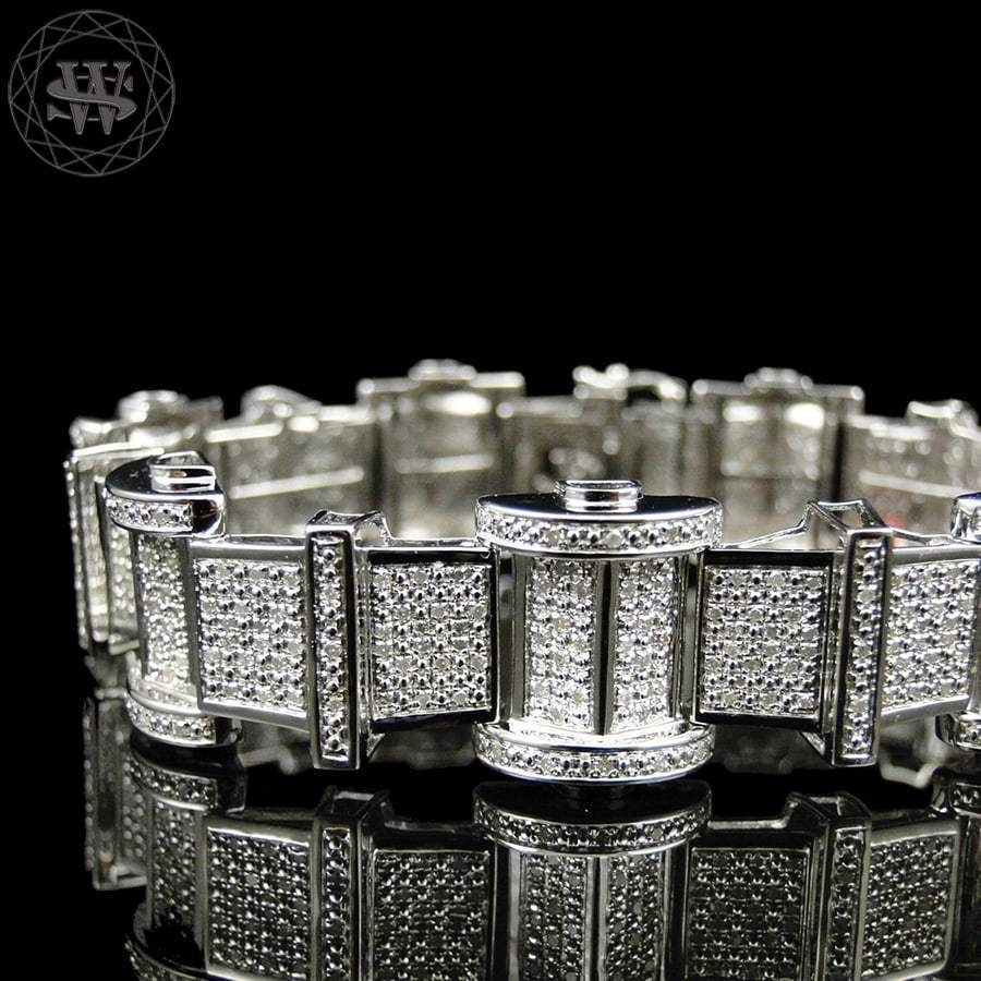 Premium 925 Sterling Silver With Real Diamond 14k White Gold