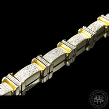 World Shine Bracelet Premium 925 Sterling Silver With Real Diamond 14k Yellow Gold Finish Diamond Bracelet 2.5Ct 13mm