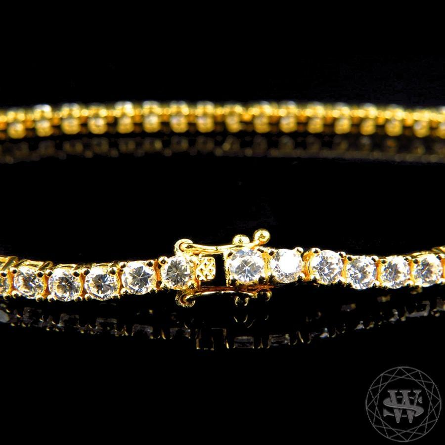 mm silver gold lab world finish clarity diamond row bracelet products simulated high premium sterling shine yellow single