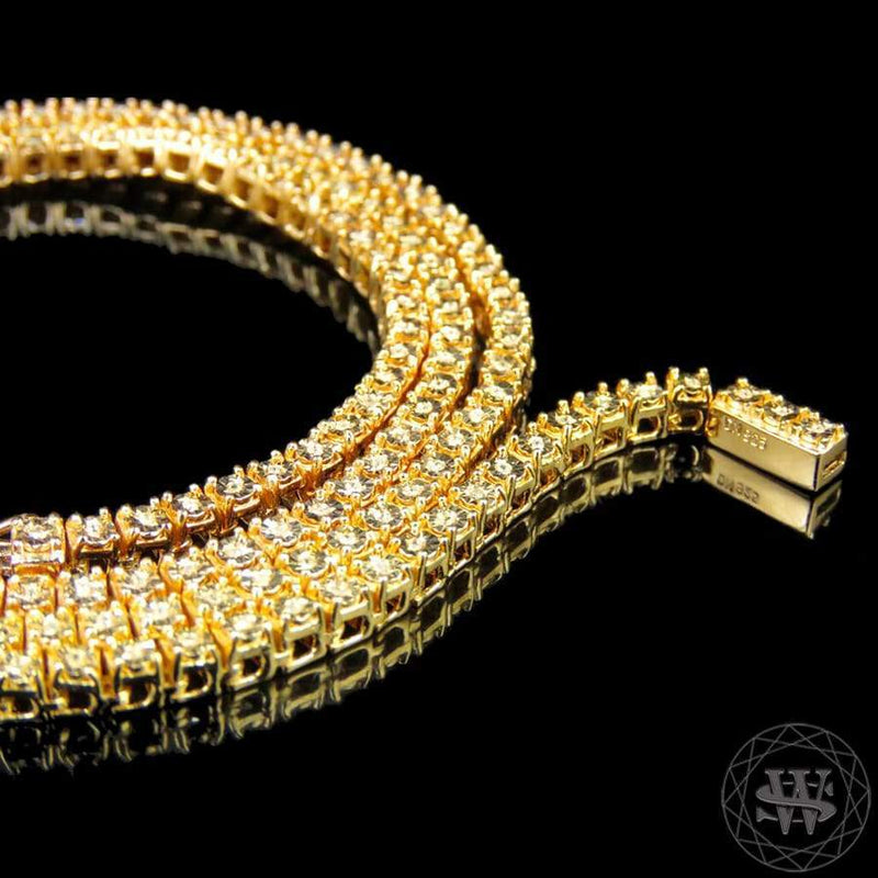 real diamond yellow the cuban in chains shop gold gld products necklace link