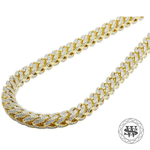 World Shine Chain Classic High Quality Brass Yellow Gold Finish Solid Franco Chain 8mm