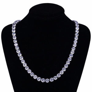 World Shine Chain Iced Out Giant Tennis Chain Silver 10mm