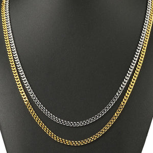 World Shine Chain Iced Out Miami Cuban Link Chain Gold 3-5mm