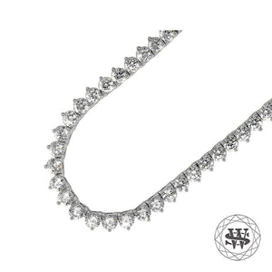 World Shine Chain Premium 925 Sterling Silver 18K White Gold Finish 3 Prong Tennis Chain 3mm 4mm 5mm
