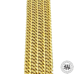 "World Shine Chain Premium 925 Sterling Silver 18k Yellow/White Gold Plated Solid Thick Miami Cuban Link Chain 7.5/9/10.5mm 16"" to 30"""