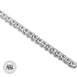 World Shine Chain Premium 925 Sterling Silver White Gold Finish All Tennis Chain 3mm 4mm 5mm 6mm 7mm