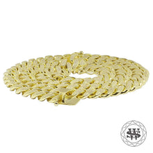 World Shine Chain Premium 925 Sterling Silver Yellow Gold Diamond Miami Cuban Chain Necklace + Bracelet