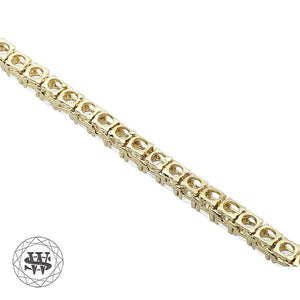 World Shine Chain Premium 925 Sterling Silver Yellow Gold Finish All Tennis Chain 3mm 4mm 5mm 6mm 7mm