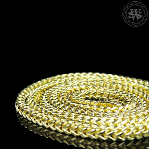 "World Shine Chain Premium 925 Sterling Silver Yellow Gold Finish Franco Chain Necklace 3mm 20"" to 30"""