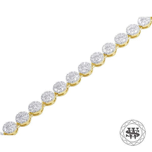 World Shine Chain Premium 925 Sterling Silver Yellow Gold Finish Silver Round Cluster Chain 5mm